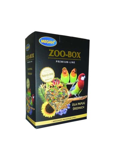 MEGAN Zoo-Box Premium Line Hrana pentru papagali medii 750g