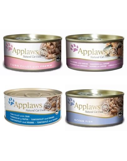 APPLAWS Mix hrana umeda pentru pisici, diverse sortimente 70 g x 12 (10+2 GRATIS)
