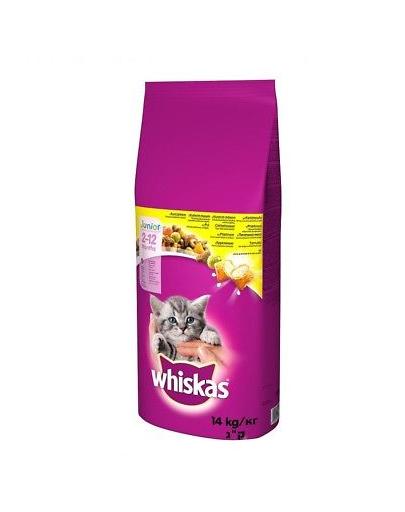 WHISKAS Junior hrana uscata pentru pisoi, cu pui 14 kg + Dr PetCare MAX Biocide zgarda protectie pisici impotriva puricilor si a insectelor 43 cm GRATIS fera.ro