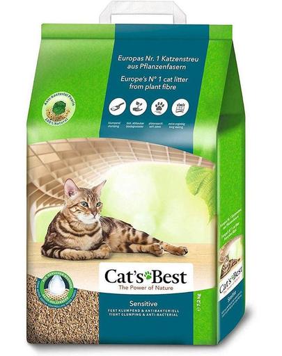 JRS Cat's Best Sensitive asternut din lemn pentru litiera pisicilor 20L fera.ro