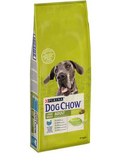 Purina Dog Chow Adult Large Breed hrana uscata caini adulti de talie mare, curcan 14 kg