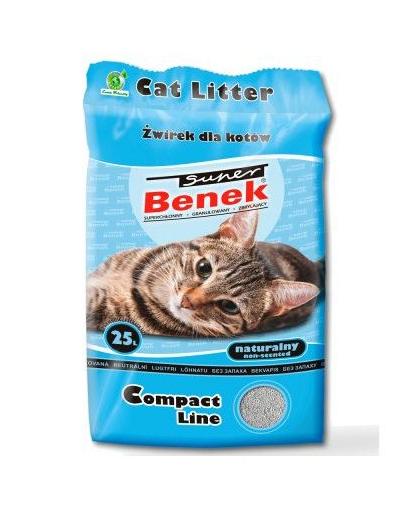 Benek Super Compact Blue nisip pentru litiera 25 L